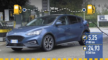 Ford Focus Active 1.0 EcoBoost de 125 CV, prueba de consumo real