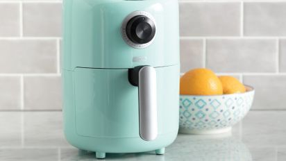 This cute air fryer is perfect for small spaces