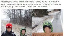 Mum makes 'rude' sons walk two hours to school during Canadian winter