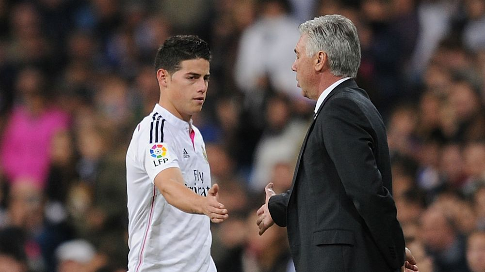 ¡Que no se repita la historia! James volvió a quedarse sin Ancelotti
