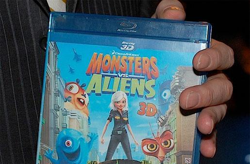 Monsters vs. Aliens to be among the first 3D Blu-ray titles