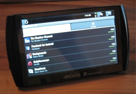 Archos 5 gets Android Market, Gmail and Maps for that Google-blessed experience