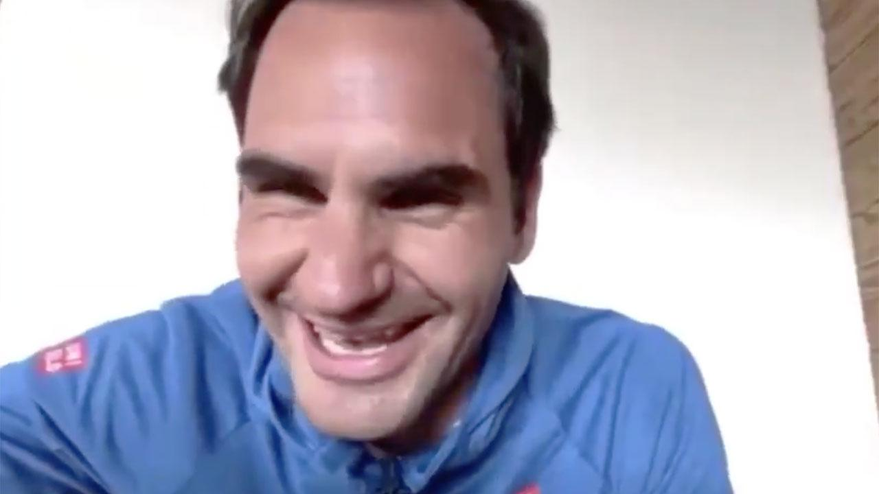 'He's checking': Roger Federer busted by coach during live chat
