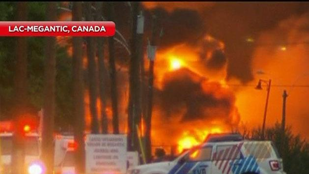 Train explosion destroys Canadian town