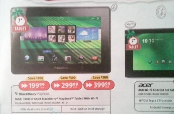 BlackBerry Playbook gets massive, temporary $300 price cut in Canada
