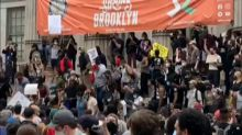 Protesters chant 'no justice, no peace' on steps of Brooklyn Borough Hall