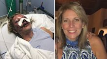 'He's still out here': Mum 'almost killed' in brutal attack at popular holiday spot