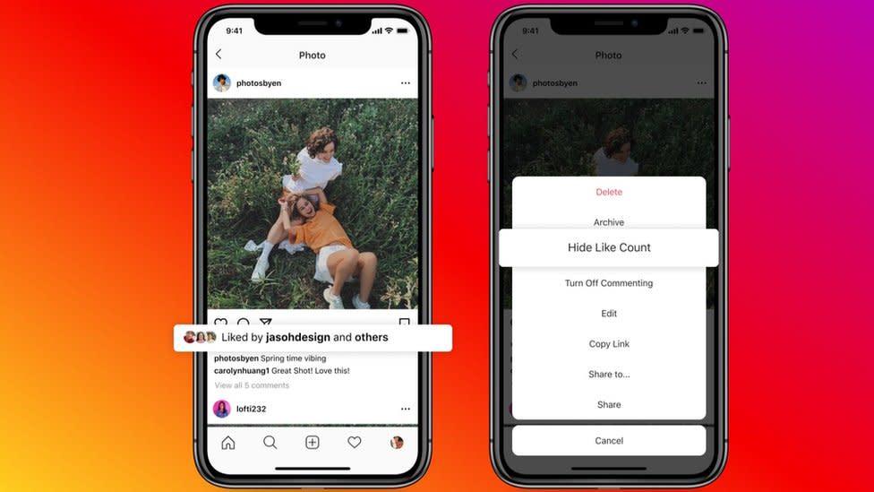 Instagram lets users hide likes to reduce social media pressure – Yahoo News Australia