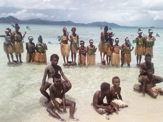 'Our existence is at stake': Students on islands being swallowed by rising seas join global climate strike