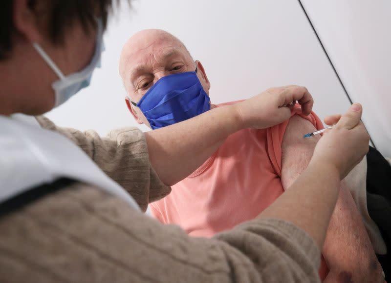 Oxford/AstraZeneca's COVID-19 vaccine at a vaccination centre in Antwerp