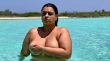 Preta Gil posa de topless e faz manifesto contra gordofobia: 'Sou livre'