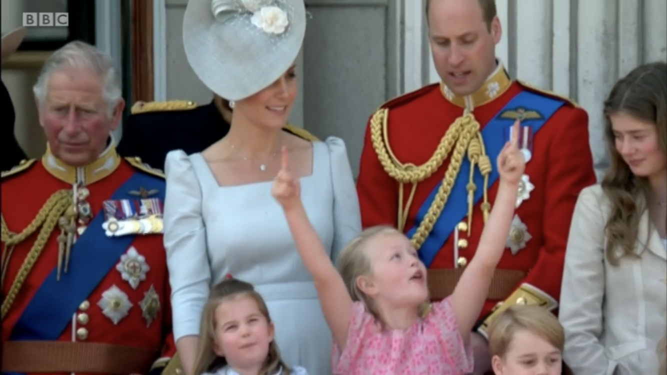 Duchess Catherine comforts Princess Charlotte after fall on Buckingham Palace balcony