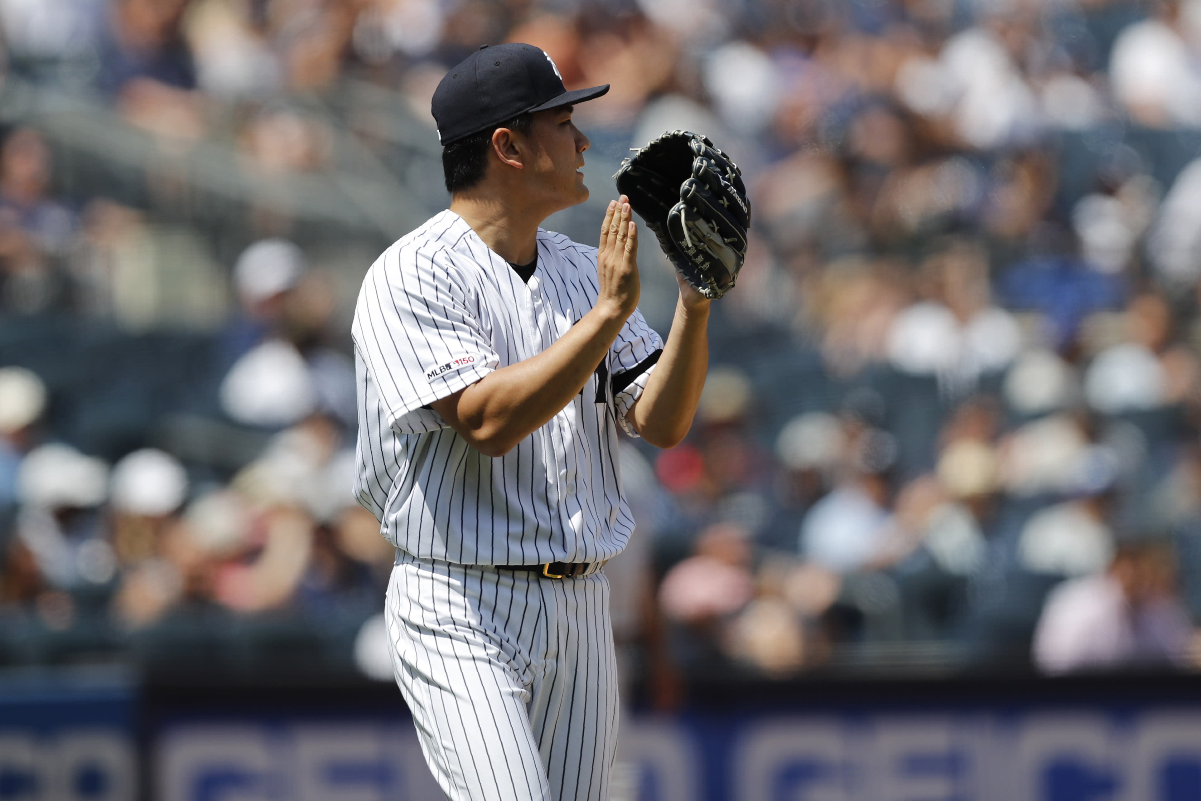 the best attitude 085b3 04e92 Tanaka helps Yankees earn 4-2 victory over Blue Jays