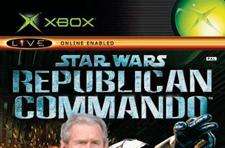 President Bush plays video games with injured soldiers
