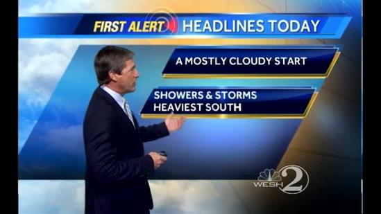Saturday Outlook: Mostly Cloudy, Showers & Storms