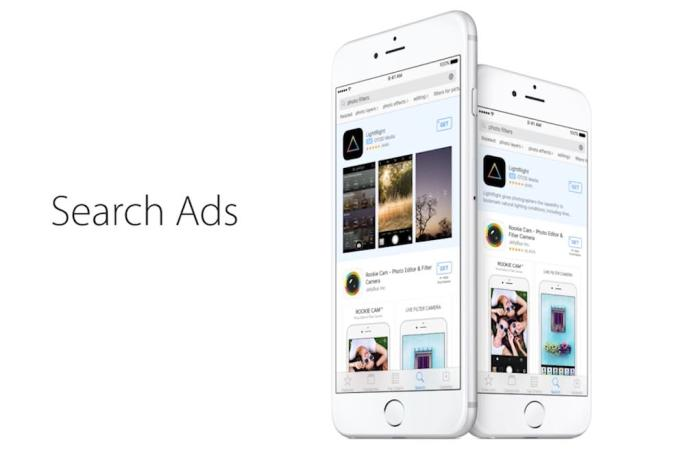 Search ads show up on Apple's App Store