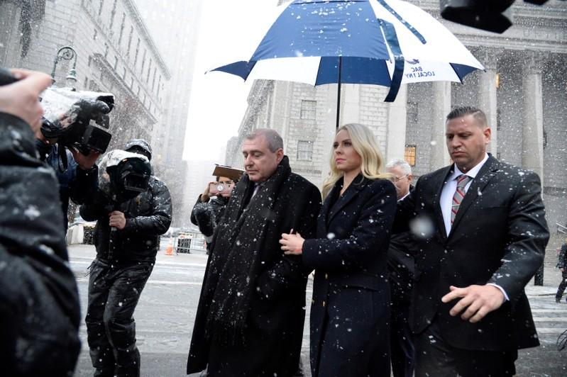 Ukrainian-American businessman Lev Parnas leaves after a status hearing at the Manhattan Federal Court in New York
