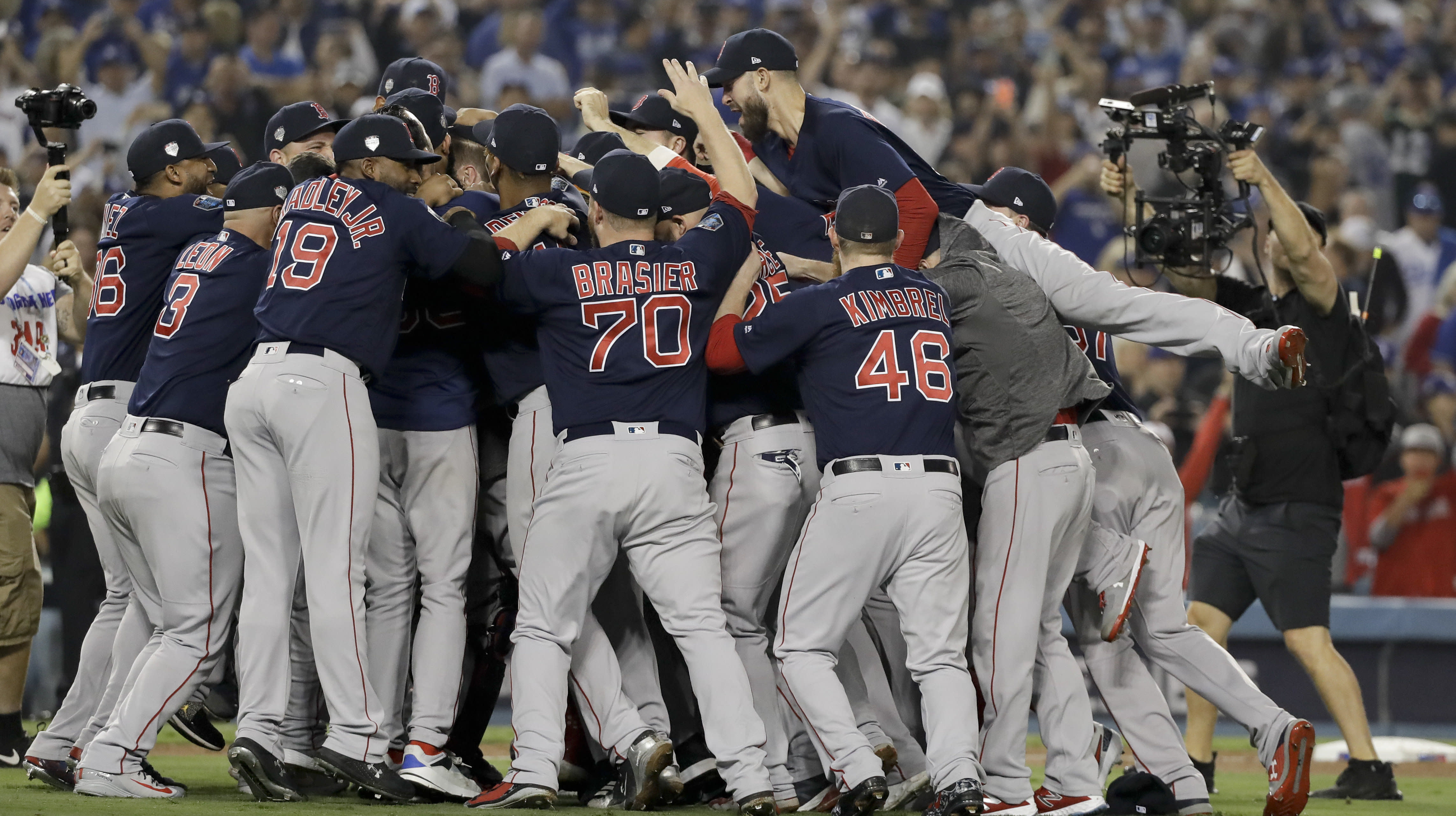 Red Sox Savagely Mock Yankees In World Series Locker Room Celebration