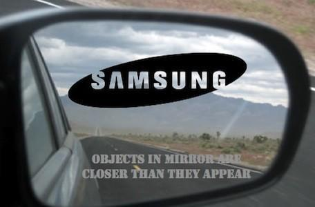 Watch out, Apple -- that Samsung in your mirror may be closer than you think