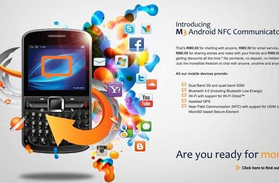 M3 Android NFC Communicator mixes something old, something new for prepaid subs
