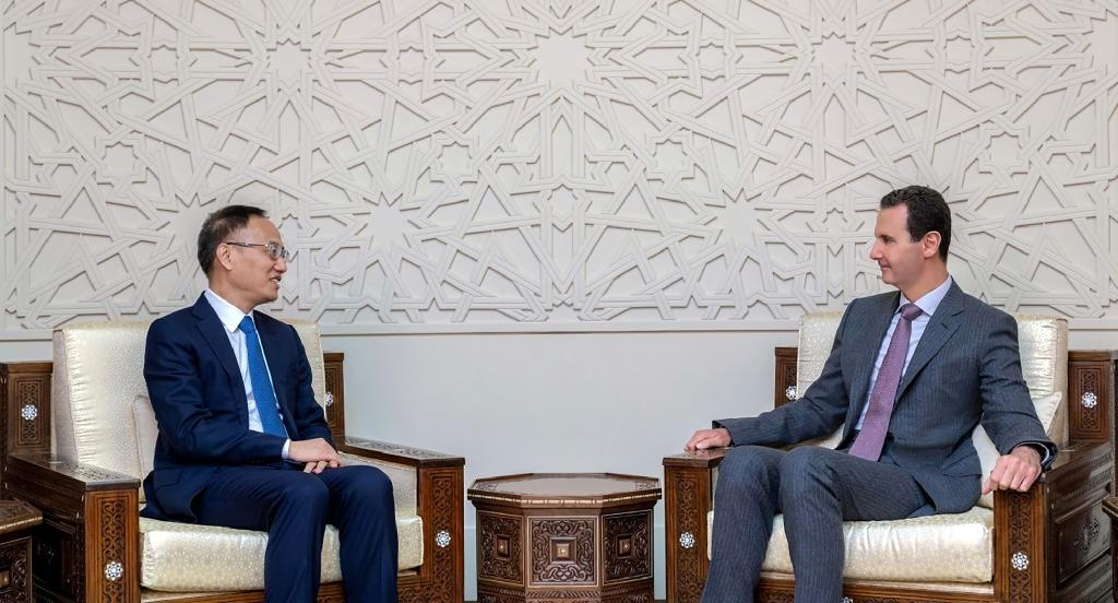 """Syria's President Bashar al-Assad said his country faces an """"economic seige"""" at a meeting with China's assistant foreign minister"""