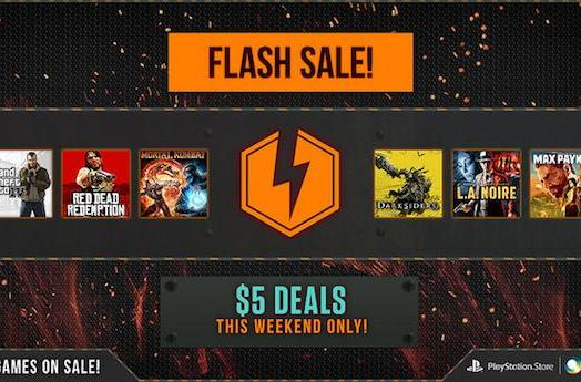 Weekend-only Flash Sale offers $5 games on PSN