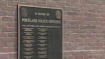 Portland Police Unveil Officer Memorial