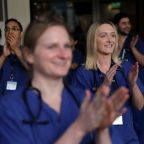 Britons clap their support for health workers