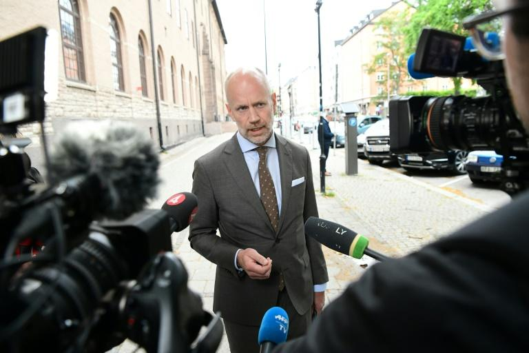 US rapper ASAP Rocky's lawyer Henrik Olsson Lilja has lodged an appeal against a court decision to hold his client in custody (AFP Photo/Jonathan NACKSTRAND)