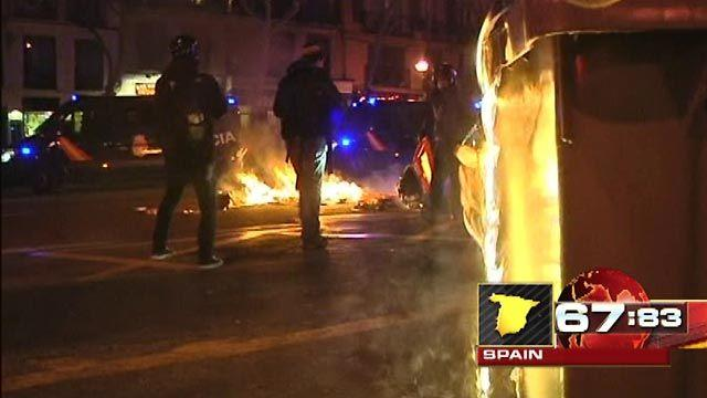 Around the World: Austerity protests turn violent in Madrid