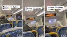 Sydney commuter's incredible train set-up captured in TikTok video