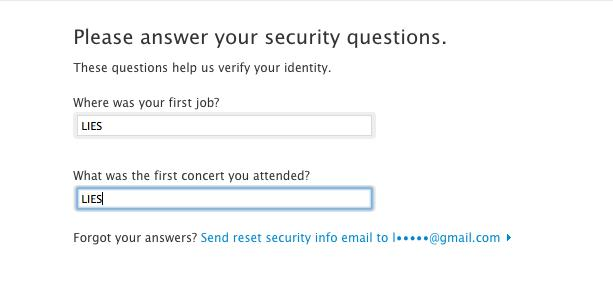 The only way to make your iCloud security questions actually secure