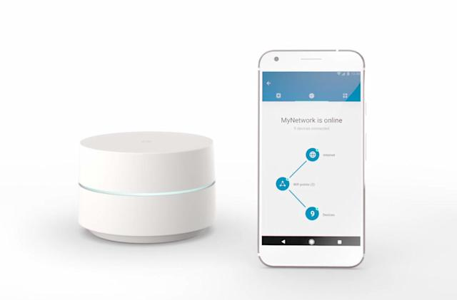 Google's WiFi mesh router is now available for pre-order