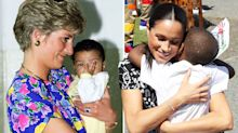 People are comparing 'compassionate' Meghan Markle to Princess Diana after sweet hugging image