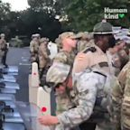 When National Guardsmen listened to protesters