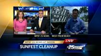 West Palm Beach cleans up after SunFest