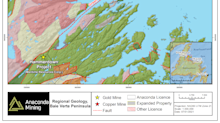 Anaconda Mining Further Consolidates and Expands the Tilt Cove Gold Project in Newfoundland and Provides Exploration Update