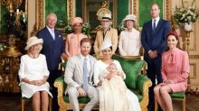 Royal fans believe baby Archie already has Prince Harry's 'red hair' in christening family photo