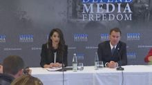 Amal Clooney 'honoured' to take up media freedom role