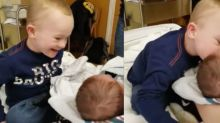 This Heartwarming Video of a Toddler Meeting His Baby Brother Will Make Your Day