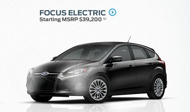 Ford begins taking reservations for the Focus Electric, pricing starts at $39,200