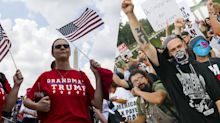 Awash in protests — Trump supporters, counterprotesters and rap-group fans descend on Washington