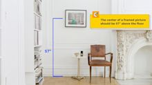 How to hang pictures like a pro