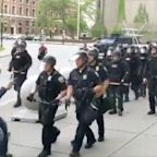 Lone Protester Left Bleeding After Buffalo Cops Push Him To The Ground