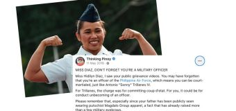 Blogger said Hidilyn could be court-martialed 2 years ago