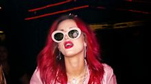 Bella Thorne Paints the Town Pink in See-Through Attire