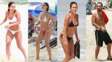 Anitta, Isis, Beltrão e Carrão em dia de praia no Rio