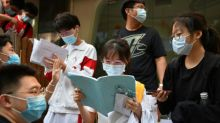 Chinese students take virus-delayed college entrance exam