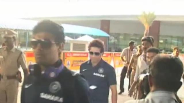 India arrive in Chennai