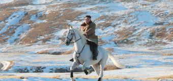 See bizarre pics of Kim John Un riding white steed